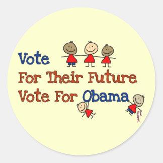 Miúdos de Obama Adesivo Redondo