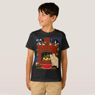 Miúdos do t-shirt do porco do Natal
