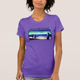 Miúdos na praia t-shirts
