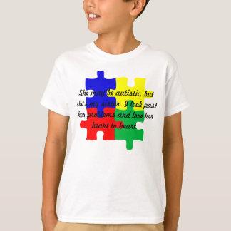 Miúdos personalizados do t-shirt do autismo da
