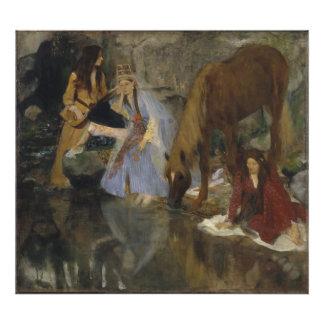 Mlle Fiocre na fonte do La do balé por Edgar Degas Foto