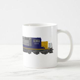 modelo 3D: Motor do trem: Estrada de ferro: Caneca