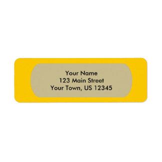 Modelo amarelo etiqueta endereço de retorno