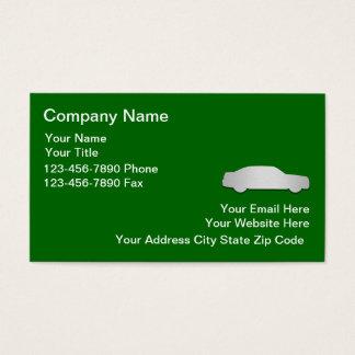 Modelo automotriz dos cartões de visitas