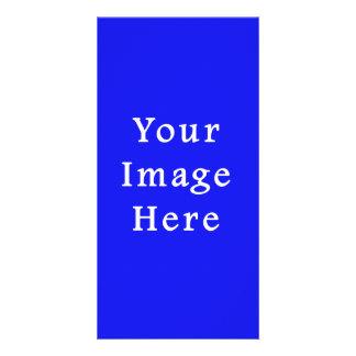 Modelo azul saturado de Hanukkah Chanukah Hanukah Cartão Com Fotos