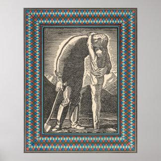 Modelo - beira litografada colorida decorativa posteres