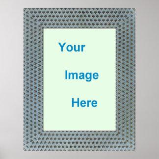 Modelo - beira litografada colorida decorativa pôster