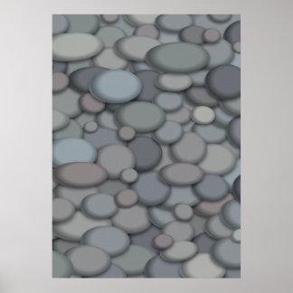 Modelo bonito do poster da rocha do rio