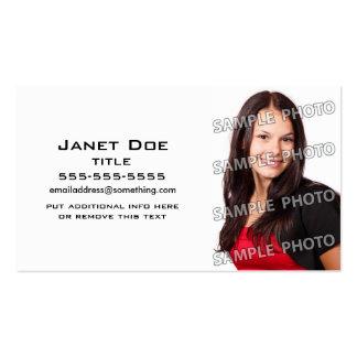 Modelo branco simples da foto cartões de visita