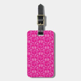 Modelo cor-de-rosa do Tag do saco do viagem do fla Etiquetas De Bagagens