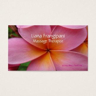 Modelo cor-de-rosa dos cartões de visitas da