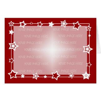 Modelo da beira do cartão de Natal horizontal