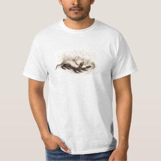 Modelo da colmeia da abelha do texugo de mel dos t-shirt