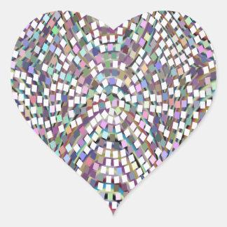 Modelo da faísca dos confetes do MAIS BAIXO PREÇO Adesivo Coração