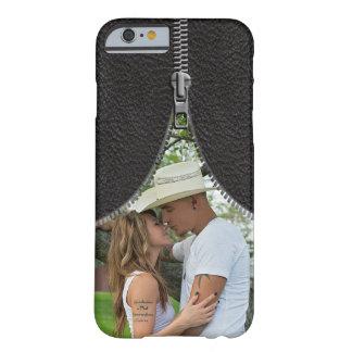 Modelo da foto do Zipper no couro do falso Capa Barely There Para iPhone 6