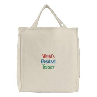 Modelo da sacola do professor dos mundos o grande bolsa de lona