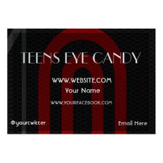 Modelo de cartão de negócios carnudo elegante cartão de visita grande