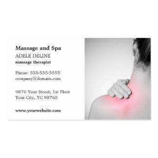 Modelo de cartão de negócios clássico do terapeuta cartão de visita
