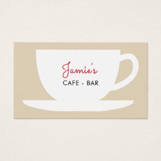 Modelo de cartão de negócios da empresa do café da