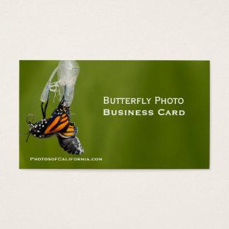Modelo de cartão de negócios da foto do casulo da