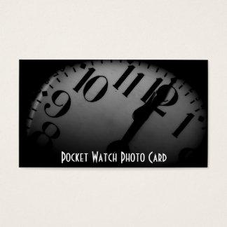Modelo de cartão de negócios da foto do relógio de