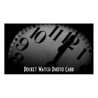 Modelo de cartão de negócios da foto do relógio de cartão de visita