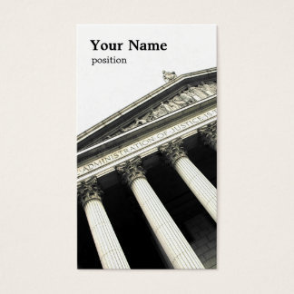 modelo de cartão de negócios da lei