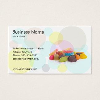 Modelo de cartão de negócios da loja dos doces cartão de visita