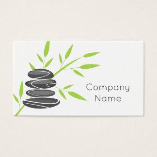 Modelo de cartão de negócios de empilhamento de