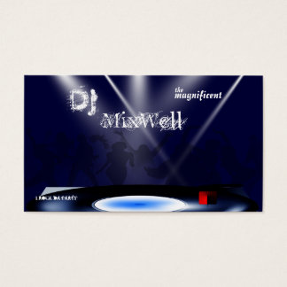 Modelo de cartão de negócios do DJ