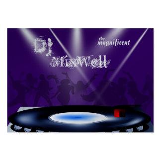 Modelo de cartão de negócios do DJ Cartão De Visita Grande