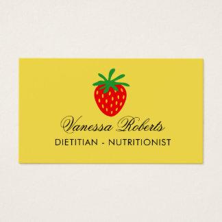 Modelo de cartão de negócios do nutricionista da