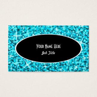 Modelo de cartão de negócios do Oval do preto azul