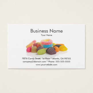 Modelo de cartão de negócios doce da loja