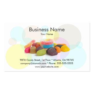 Modelo de cartão de negócios doce da loja cartão de visita