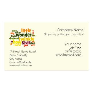 Modelo de cartão de negócios genérico cartoes de visitas