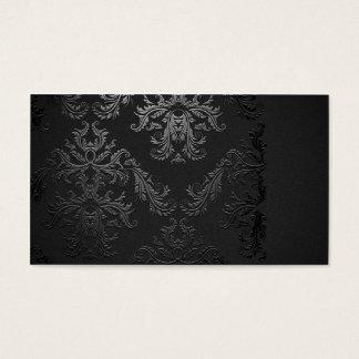 Modelo de cartão de negócios preto elegante do
