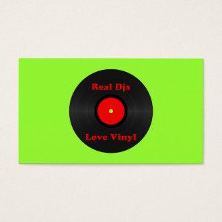 Modelo de cartão de negócios real do vinil do amor