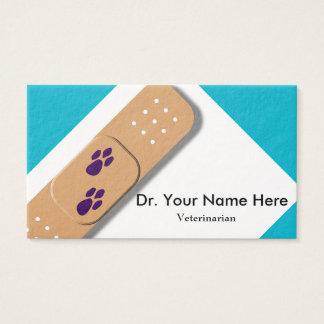 Modelo de cartão de negócios veterinário cartão de visita