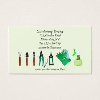 Modelo de jardinagem do cartão de empresa de