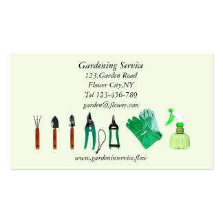Modelo de jardinagem do cartão de empresa de cartão de visita