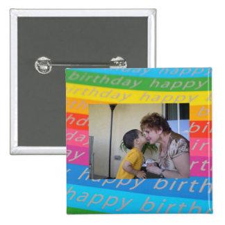 Modelo do botão da foto do aniversário/Pin Bóton Quadrado 5.08cm