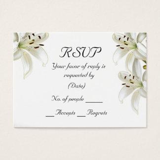Modelo do cartão de RSVP