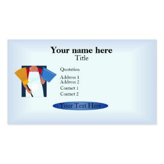 Modelo do cartão do serviço da limpeza modelo de cartões de visita