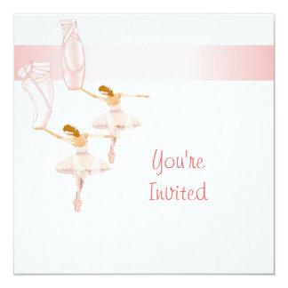 modelo do convite das fadas da bailarina convite quadrado 13.35 x 13.35cm