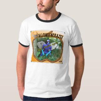 Modelo do T da abóbora de HalloweenCrazee Tshirts