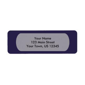 Modelo dos azuis marinhos etiqueta endereço de retorno