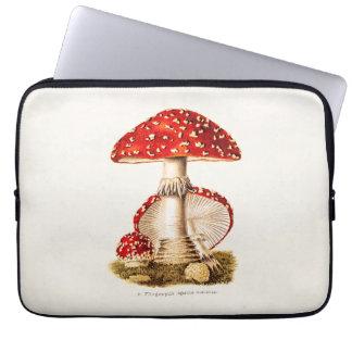 Modelo dos cogumelos do vermelho do cogumelo dos bolsas e capas para computadores