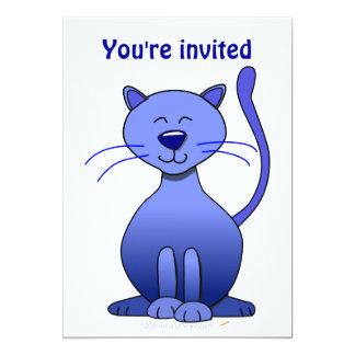 Modelo engraçado de sorriso azul feliz bonito da convites personalizados