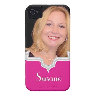 Modelo feminino do iPhone da foto do quadro do Capa Para iPhone 4 Case-Mate